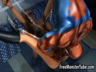 الساخن شقراء 3D تحصل مارس الجنس من الصعب من قبل spidermanmyname 2 عالية