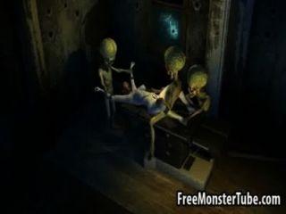 تحصل مارس الجنس الساخنة فاتنة امرأة سمراء 3D من قبل اثنين من aliensattack3 عالية 1