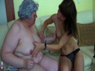 الدهون الجدة الكبيرة مع فتاة لطيف