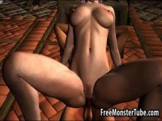 الساخنة أميرة قزم 3D الحصول على يمسح ومارس الجنس هاردي عالية 2