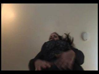 مفلس امرأة سمراء سكرتير ناضجة في جوارب طويلة