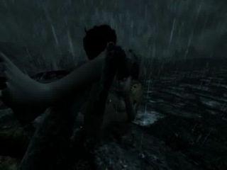 skyrim dragonborn أنثى هزم وانتهكت على جانب الطريق