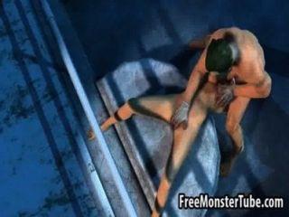 فاتنة 3D تمتص الديك ويحصل مارس الجنس من قبل jokerrbiddenfruit عالية 1