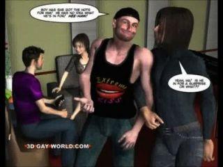 طرفة عين الرجل مقابل خنثى الصخور المغنية فاني الكوميديا مثلي الجنس 3D