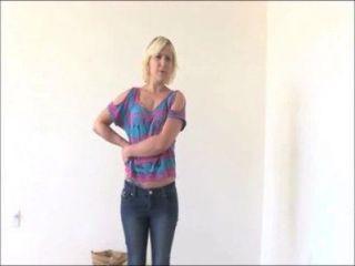 مارشا شقراء الهواة يعطي BJ الرطب الخام حقا في الاختبار تقويم لها اليوم