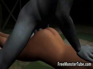 مثير امرأة سمراء 3D الحصول مارس الجنس من الصعب من قبل zombieombie عالية 2