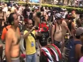 ciclista desnudos أون لا سيوداد المكسيك 2011