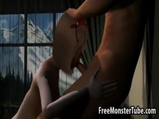 امرأة سمراء 3D تمتص الديك ويحصل مارس الجنس من قبل ناروتو