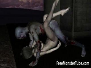 الرسوم المتحركة 3D غيبوبة فاتنة الحصول على يمسح ومارس الجنس