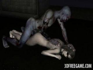 لذيذ الرسوم المتحركة 3D غيبوبة امرأة مشاكسة الحصول مارس الجنس من الصعب