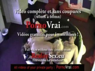 كاميرا تجسس في حفل خاص الفرنسية!كاميرا espion أون سهرة PRIVEE.