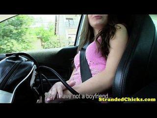 هيتشكينغ في سن المراهقة وامض لها الثدي