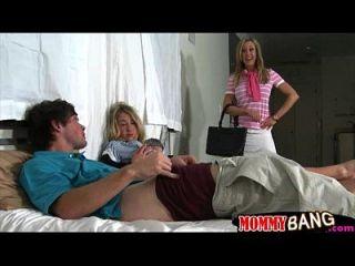 ستيبوم براندي الحب تقاسم الديك مع في سن المراهقة وقحة كاسي جيمس