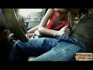 شقراء في سن المراهقة الملاعين ل a ركوب داكوتا skye.4