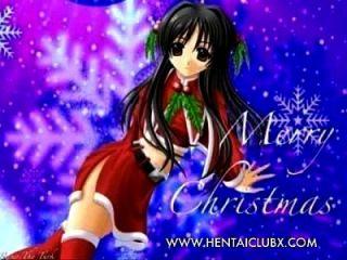 إشي مثير أنيمي فتاة عيد الميلاد مثير