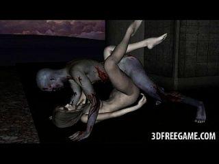 مثير 3d غيبوبة فتاة يحصل لها كس يمسح و مارس الجنس