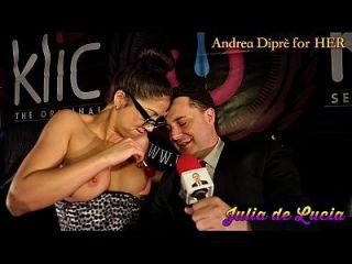 جوليا دي لوسيا يضع مصاصة في لها المهبل ل أندريا diprè