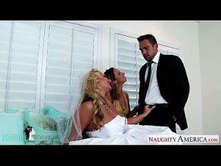 مثير فاتنة جادا ستيفنز و فينيكس ماري حصة الديك في الزفاف