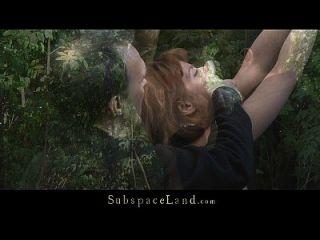 لورا ضبط النفس في الغابة ل كونه سبانكيد و مارس الجنس
