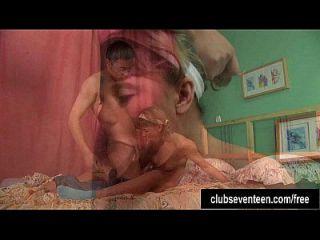بيغتايلد في سن المراهقة أن يحصل الحمار مارس الجنس و كومد