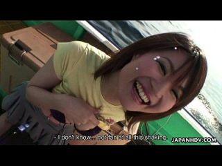 الآسيوية لاس يلعب مع لها لعبة و العضو التناسلي النسوي لها