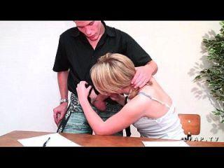 صغيرتي étudiante فرنسي سي فيت بريندر في مزدوج اختراق مزدوج سيس كوبينز