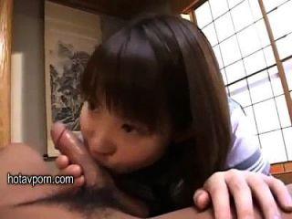 جميلة اليابانية تلميذة الملذات بابا