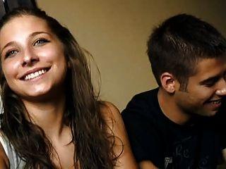 كريستينا 18 عاما ودييغو الشباب اللعنة زوجين من أجل المال
