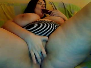 ضخمة الثدي وجمل العصير على كام