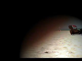 افتضاحي زوجة إغاظة لانا على الشاطئ عارية!