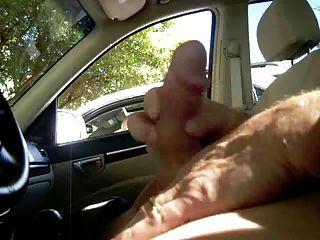 الجبهة يمسك لي wanking في السيارة