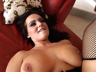 الثدي هوتي كبير خبطت من قبل سوداء الديك
