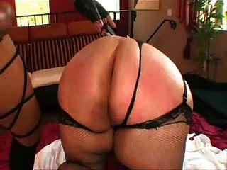 تحصل مارس الجنس BBW سميكة من قبل بي بي سي