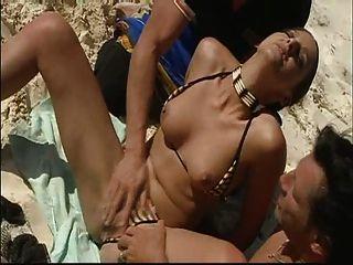 شاطئ الصيف مزدوجة الاختراق متعة!تذكر واقية من الشمس!مشاهدة قراءة معدل تعليق!