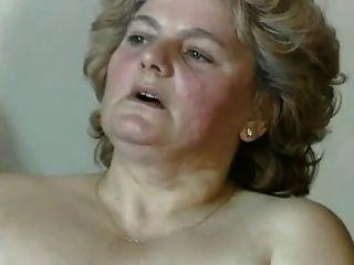الجدة شقراء السمين مع شعر كس