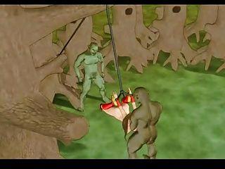 يحصل اجتاحت أميرة وحده في الغابة
