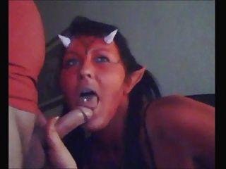 قرنية الشيطان كتكوت تمتص ديك ويأكل نائب الرئيس