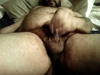 الدب تقطيعه بطن شعر كبير
