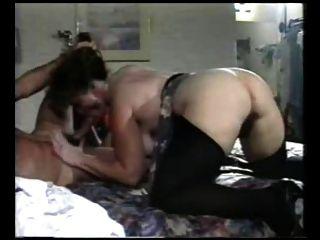 مثير أمي n114 شعر الجبهة الناضجة الشرج مع شاب