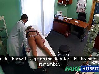 fakehospital بالدوار الشباب شقراء يأخذ CREAMPIE ويبدأ