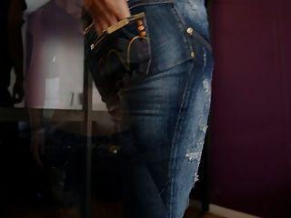 jeansfetish وشكا من وثيقة على مؤخرتي واللباس الداخلي