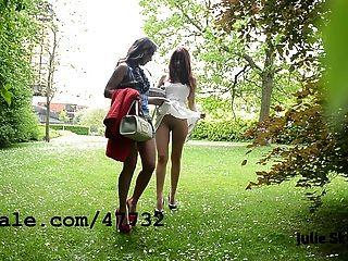2 مثليات الفاسقات exhibitionnist في بارك