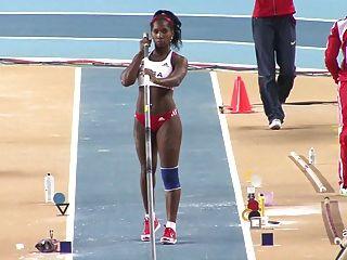 ياريسلي سيلفا: الحمار مثير دورة الالعاب الاولمبية الكوبية القفز بالزانة ameman