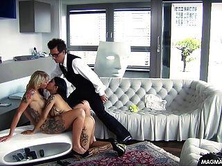 الصهارة فيلم ومفلس فاتنة الألمانية شقراء الحصول مارس الجنس