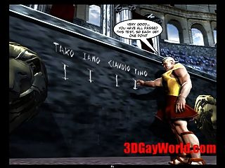الألعاب الأولمبية مثلي الجنس مضحك 3D مثلي الجنس كارتون 3D كاريكاتير نكتة