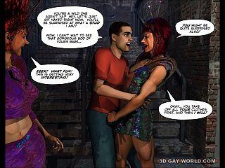الملكات من الخارجي الخيال العلمي الفضاء مثلي الجنس 3D الكوميديا تون أنيمي