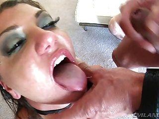 كاساندرا ووجه مارس الجنس والمزجج من قبل نائب الرئيس الساخنة