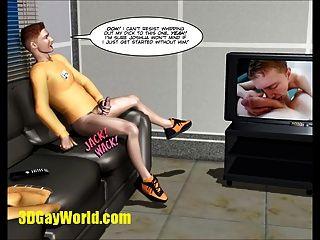 الديك غير مرئي الخيال العلمي مثلي الجنس فاي 3D الرسوم المتحركة قصة هزلية