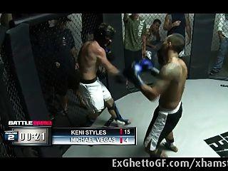 وقحة السوداء استغل من قبل مقاتل MMA