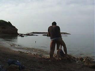 بلدي السابقين وأنا الشاطئ العام اللعنة